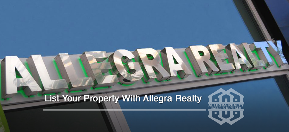 List Your Property With Allegra Realty